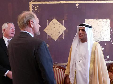 Abschied von HH Sheikh Saud