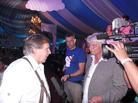 Interview auf dem Oktoberfest