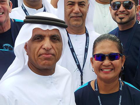 HH Sheikh Saud Bin Saqr Al Qasimi mit Rina Gauer