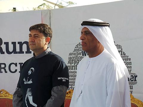 HH Sheikh Saud Bin Saqr Al Qasimi und Emmanuel Kamarianakis