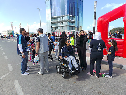 Teilnehmer im Rollstuhl