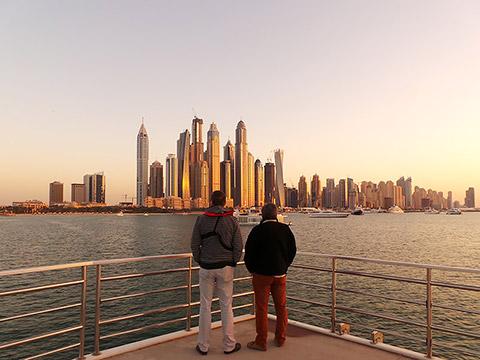 Skyline vom neuen Dubai