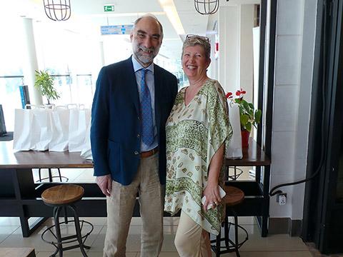 Dr. Harald Stossier mit Uschi Mahl