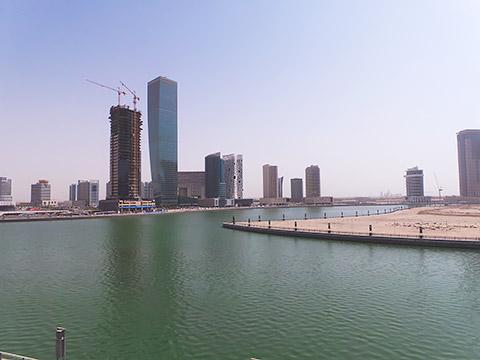 Blick vom Hotel auf Kanal
