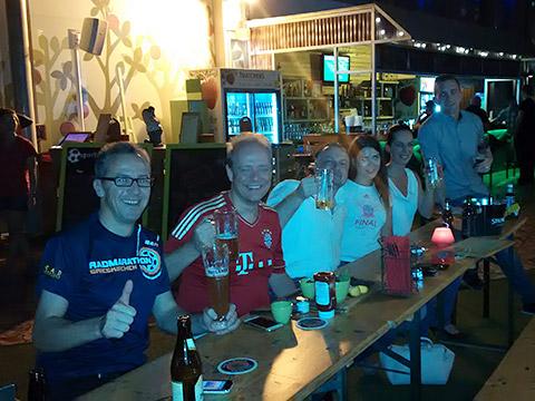 Die Bayern feiern