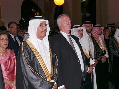 Generalkonsul mit Ehrengästen