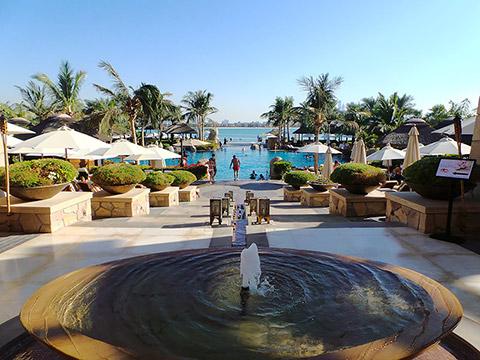 Blick auf die Pool-Area
