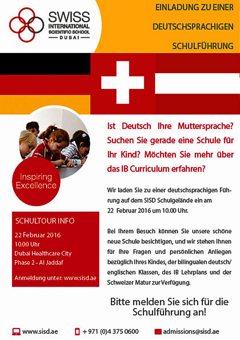 Schulführung in deutscher Sprache