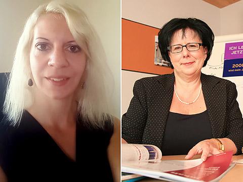 Jana Krok und Ursula Rimmele-Konzelmann