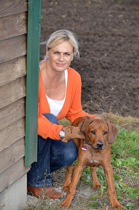Karin mit Hund