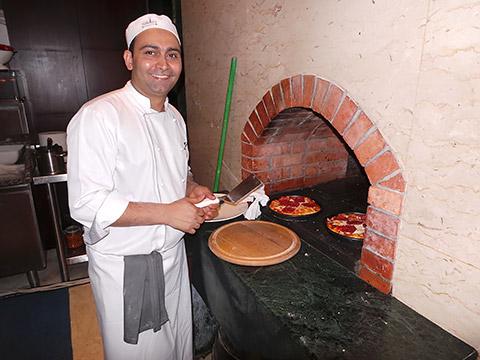 Pizza aus dem Ofen
