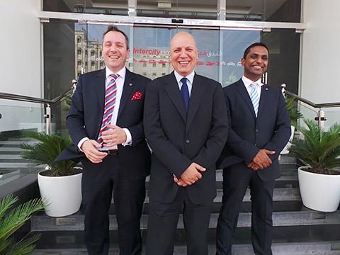 Siegfried Nierhaus, Anees Shinnara und Renjith Chandran