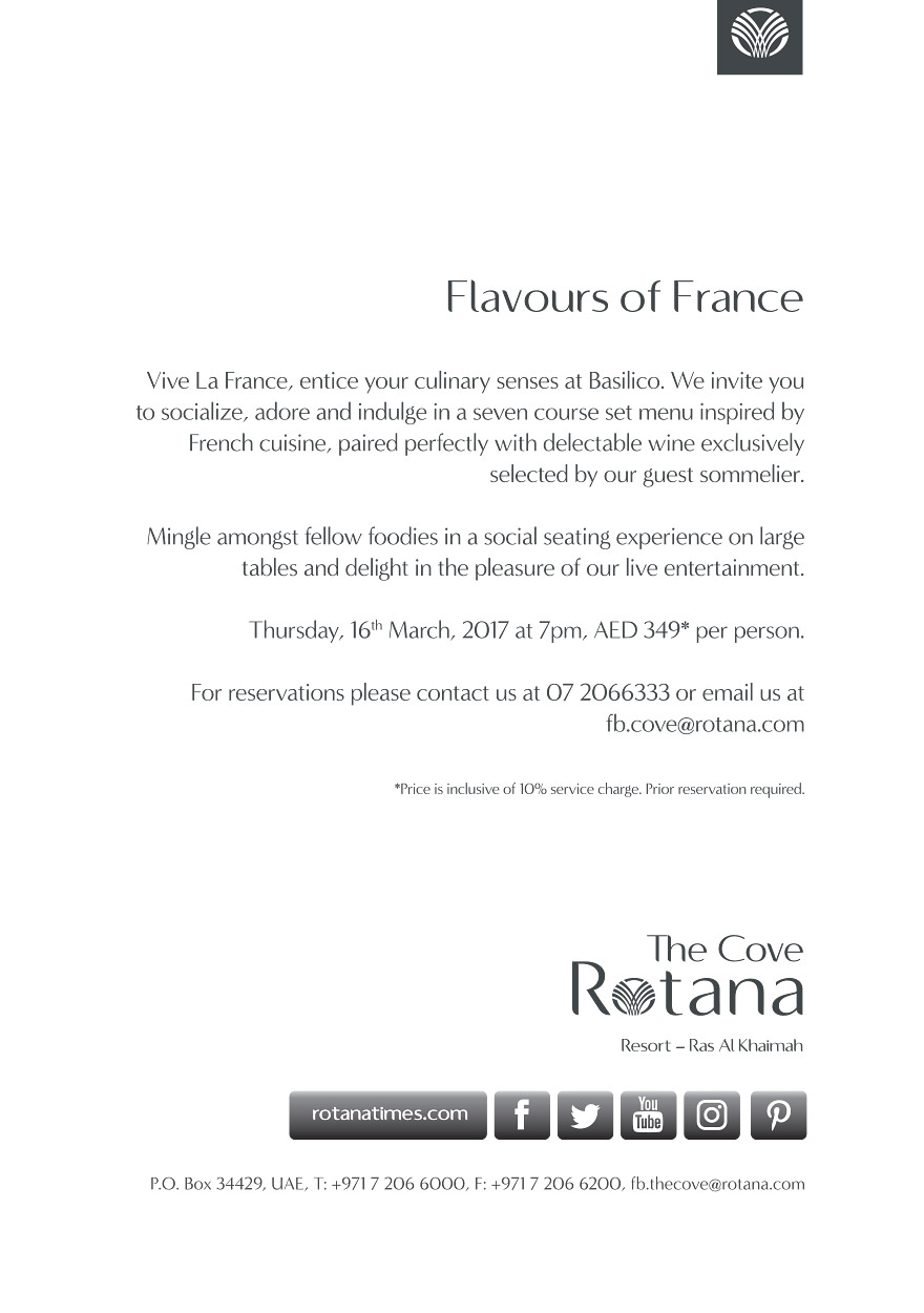 Flavours of France @ Basilico 2