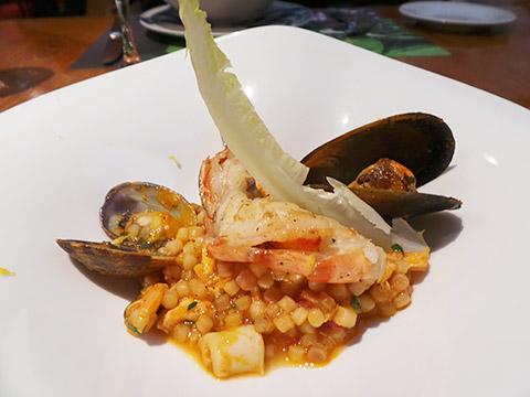 Sardische Fregola mit Seafood