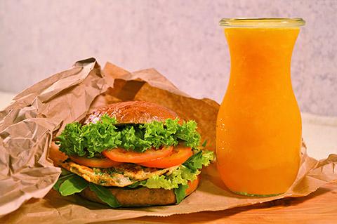 Tortilla-Eier-Sandwich