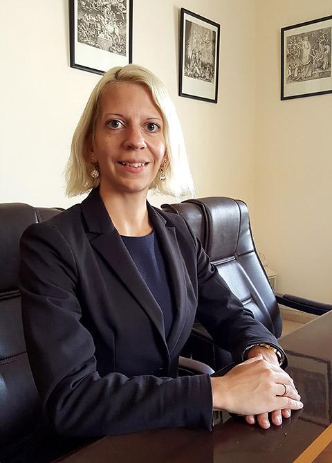 Jana Krok im Office