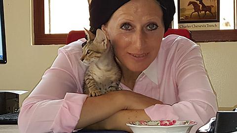Mit Babykatze