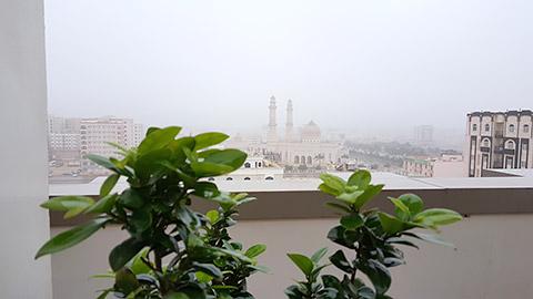Morgenblick aus dem Hotel