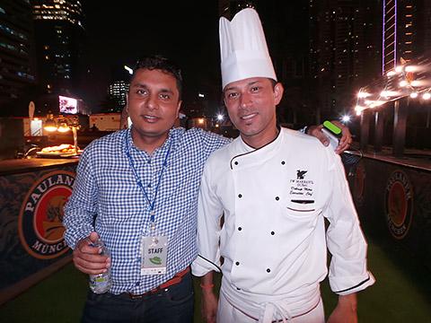 Bhavesh Rawal mit Chef Debrup Mitra