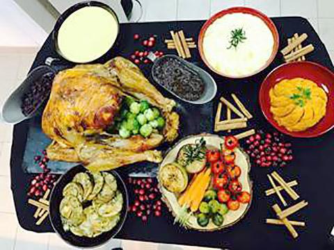 Turkey mit Beilagen
