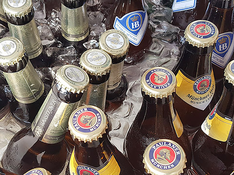 Gekühltes Bier