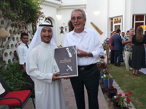 Buchübergabe an HH Sheikh Butti Bin Juma Al Maktoum