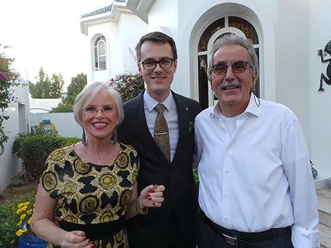 Renate, David und Dr. Ulli Wernery