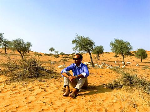 Amit Arora in der Natur