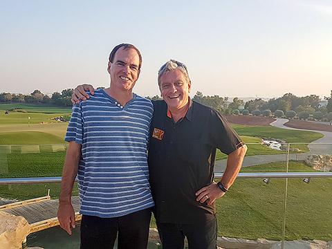 DJ Phil Richardson mit Thomas Schwedler