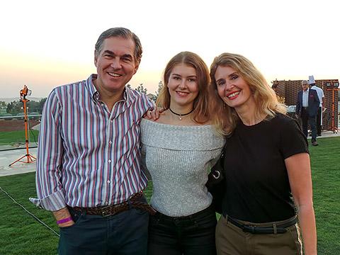 GK Chris Watts mit Frau und Tochter