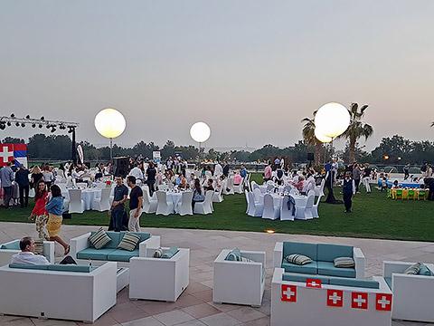Garten des Jumeirah Golf Estates Clubs