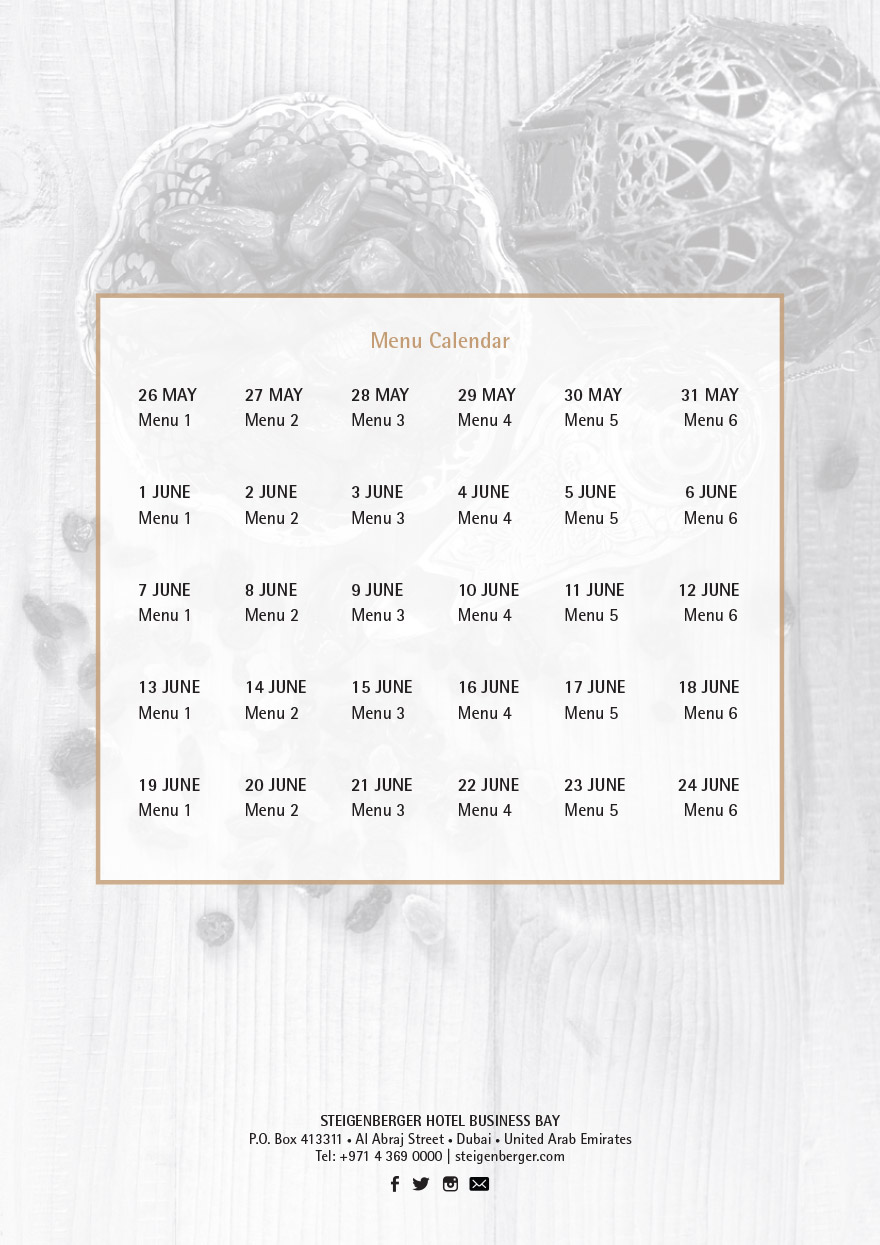 Iftar Menu Kalender 14