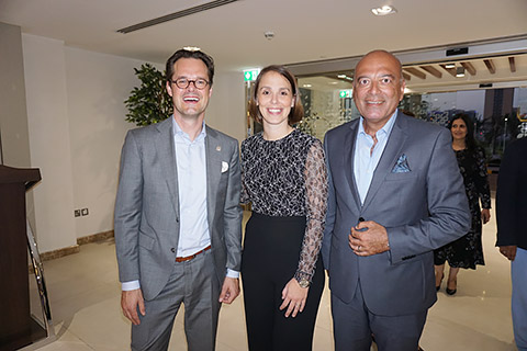 Remmie de Graaf, Eva Muscheid und Mahmoud Mokhtar