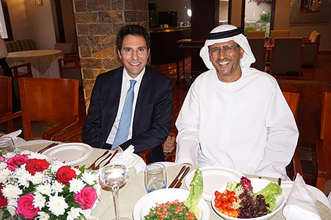 Haitham Mattar und Dr. Ahmed Al Shemaili