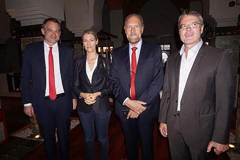 Moritz Kerler mit Tochter, Günter Rauer und Felix Neugart
