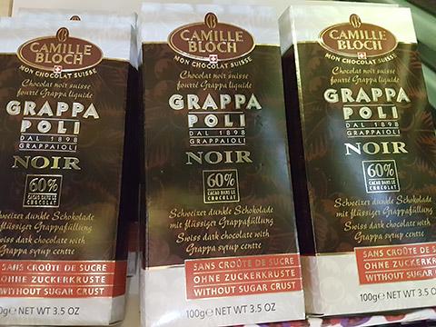 Schokolade mit Grappa