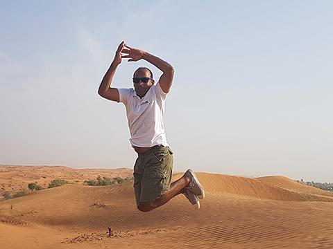 Amit in der Wüste