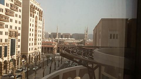 Blick aus Hotel in Medinah