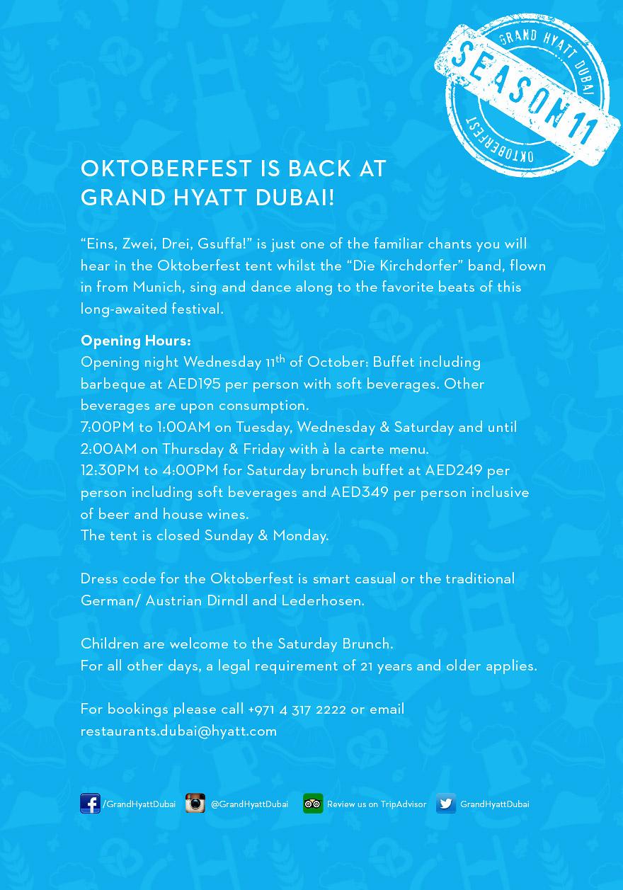 Oktoberfest @ Grand Hyatt 2