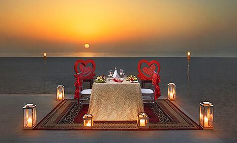 Dinner am Strand