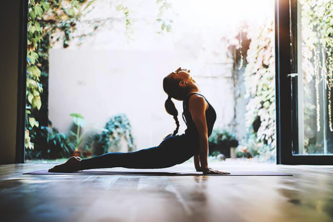 Yoga im Backyard