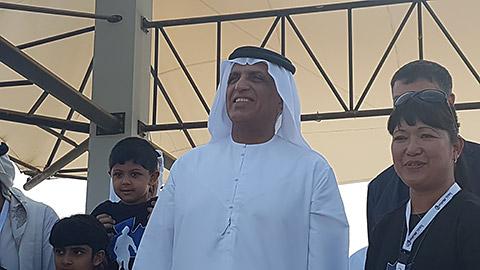 HH Sheikh Saud mit Rina Gauer