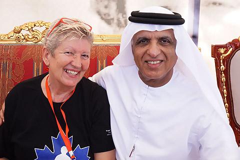 HH Sheikh Saud mit Uschi Mahl