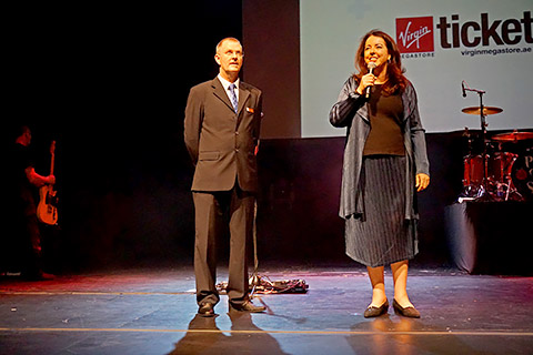 Kurt Blum mit HE Maya Tissafi
