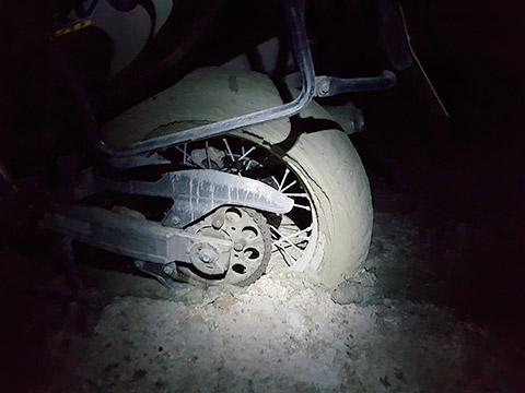 Motorrad im Schlamm
