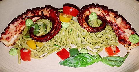 Oktopus-Pasta