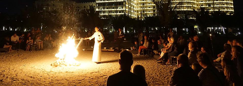 Earth Hour am Strand