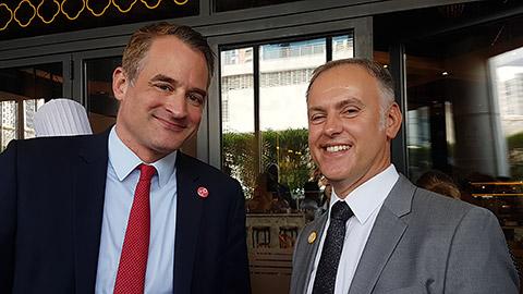 Felix Neugart mit Robert Leckel