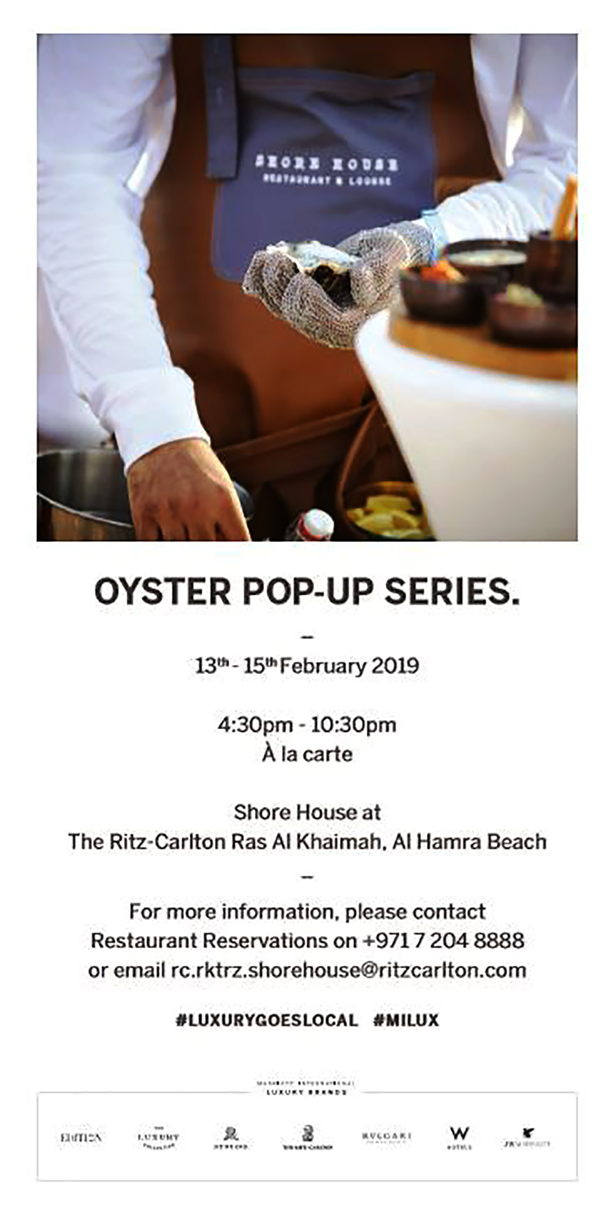 Oyster Pop-Up Series
