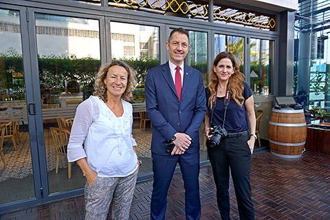 Torsten Obermann mit Gaby und Corinna